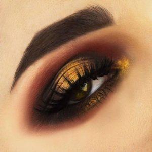 Макияж глаз с помощью палетки In Your Element Shadow Palette Fire от NYX