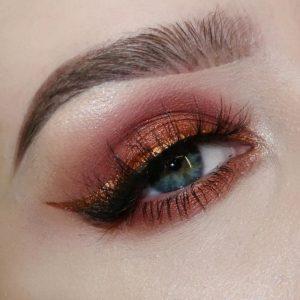 Пример макияжа выполненного с помощью палетки In Your Element Shadow Palette Fire от NYX