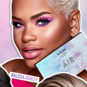 Макияж Alissa Ashley с палеткой теней In Your Element Palette Air от NYX