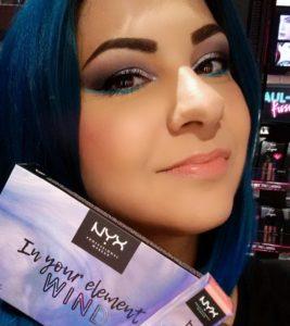 Яркий макияж с палеткой In Your Element Shadow Palette Wind от NYX