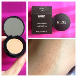 Свотч Full Coverage Concealer 03 Medium от Kiko Milano