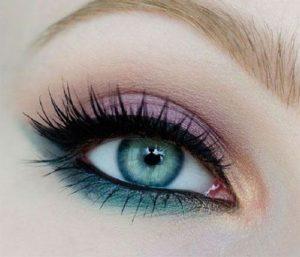 Яркий весенний макияж глаз