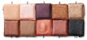 Нумерация теней в палетке Love you so Mochi Eyeshadow Palette Sleek and Chic от NYX