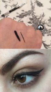 Свотчи подводки EyeStudio Lasting Drama Gel Eyeliner от Maybelline New York в оттенке №01