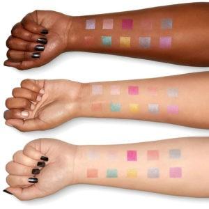 Официальный свотч теней палетки Love You So Mochi Eyeshadow Palette Electric Pastels от NYX