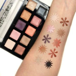 Свотчи оттенков теней Love you so Mochi Eyeshadow Palette Sleek and Chic от NYX
