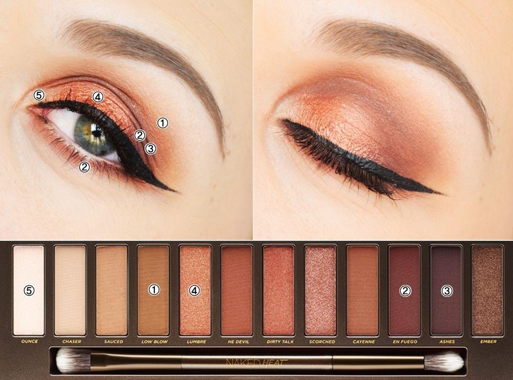 Урок по созданию макияжа глаз с помощью палетки Naked Heat от Urban Decay