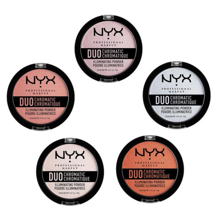 Коллекция хайлайтеров Duo Chromatic Illuminating Powder от NYX Professional Makeup