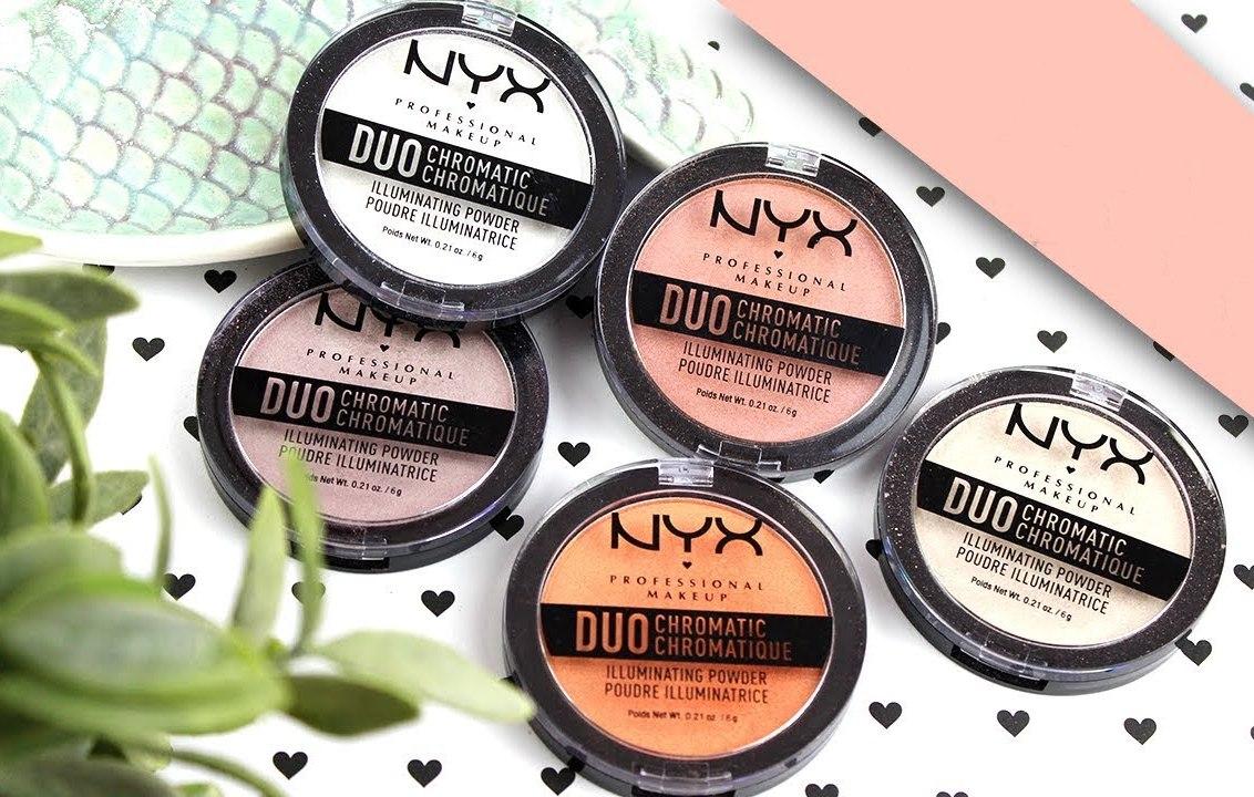 Хайлайтеры Duo Chromatic Illuminating Powder от NYX Professional Makeup