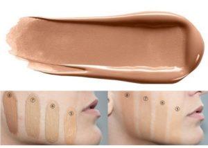 Свотч тональной основы для макияжа High Definition Studio Photogenic Foundation от NYX в оттенке 106 Natural Beige