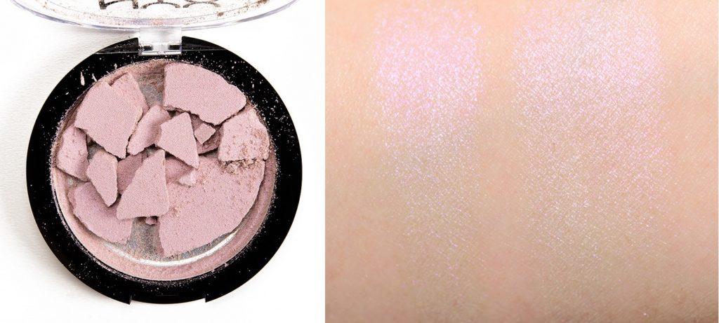 Свотч хайлайтера Duo Chromatic Illuminating Powder от NYX Professional Makeup в оттенке 02 Lavender Steel