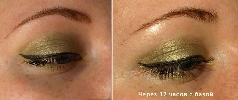 Пример макияжа с использованием базы под тени Eyeshadow Base от Artdeco