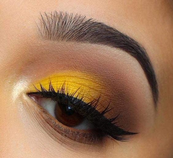 Макияж в желто-оранжевой гамме