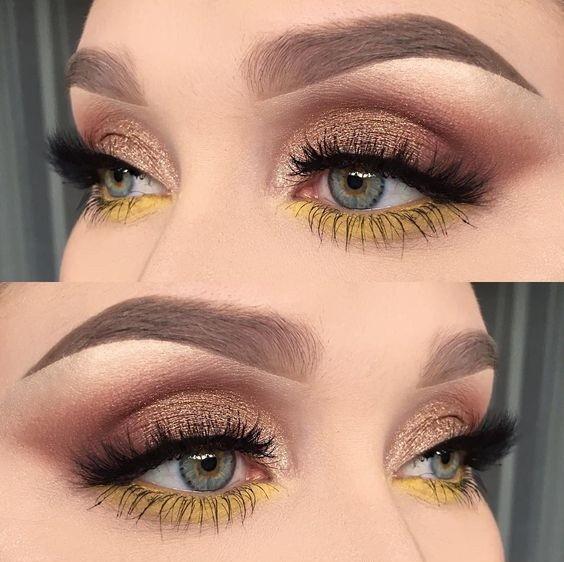 Желтые тени по нижнему веку