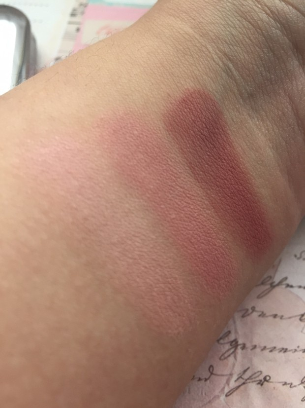 Свотчи румян Shade Fusion Trio Blush от Kiko Milano в оттенке 05 - Marsala