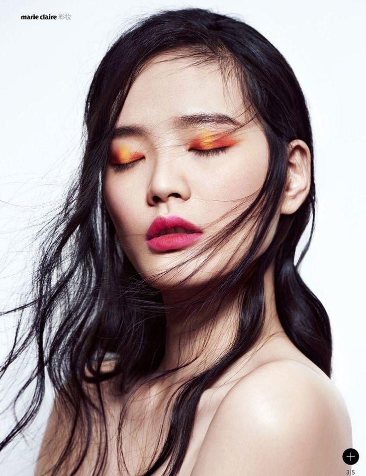 Color block оранжевыми тенями