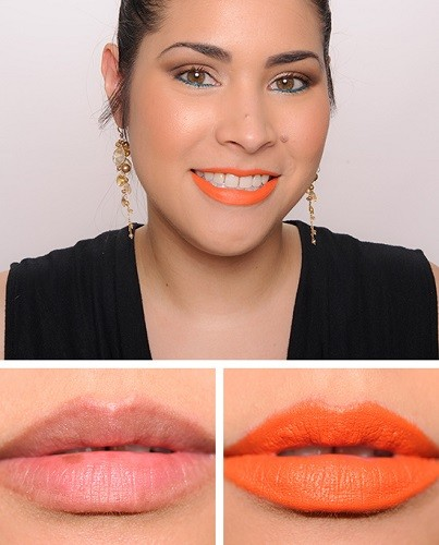 MAC Forbidden Sunrise Lipstick swatch