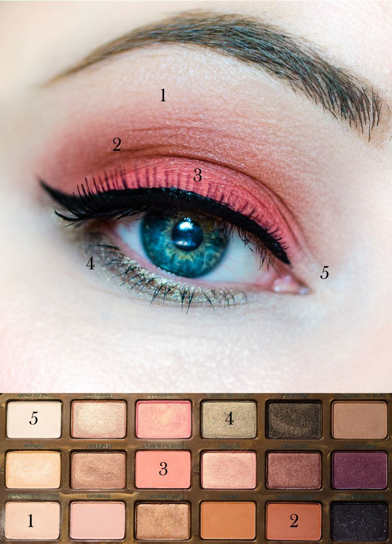 Пошаговый урок макияжа палеткой Sweet Peach от Too Faced