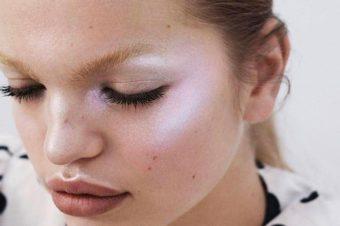 Хайлайтеры-дуохромыв макияже