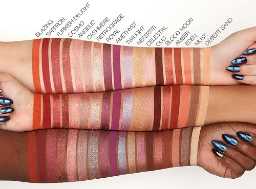 Huda Beauty Desert Dusk Eyeshadow swatches