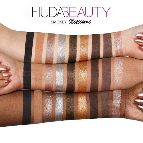 Huda Beauty Smokey Obsessions свотчи