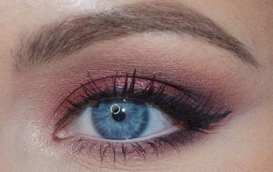Макияж с бордовыми тенями светлый кайал по нижней слизистой