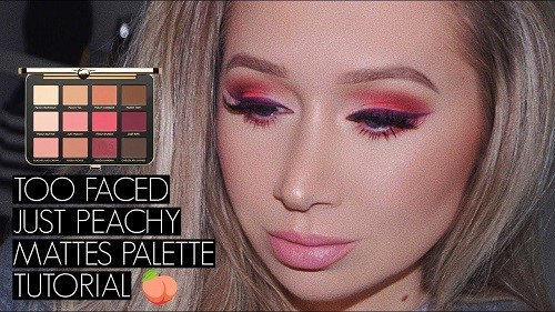Too Faced Just Peachy Mattes макияж