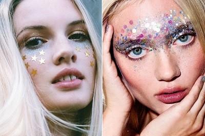 блестки в макияже