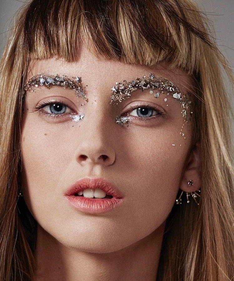 глиттер в макияже