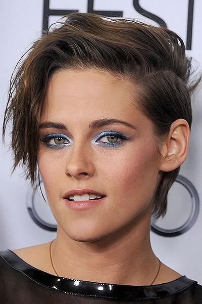 макияж с синими тенями кристен стюарт