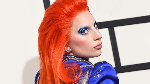 макияж с синими тенями леди гага