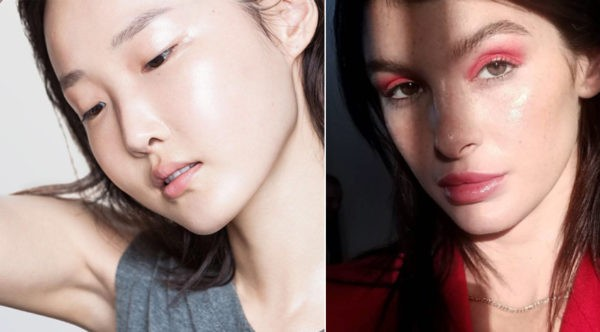 стеклянная кожа макияж