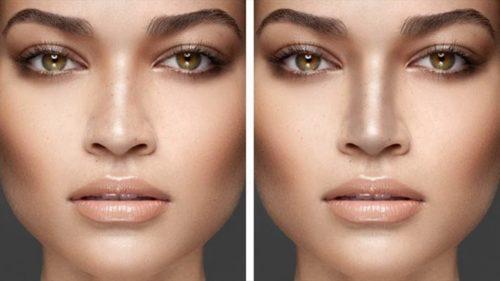 контуринг носа до и после