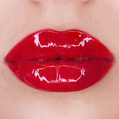 макияж губ с эффектом желе