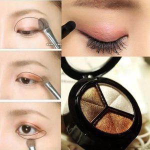 Макияж глаз тенями: как использовать 3 и 4 цвета вместе+фото