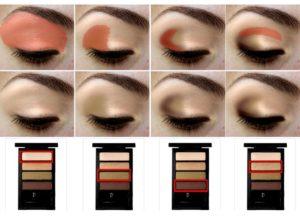 Красивый макияж глаз тенями с 4 и более оттенками