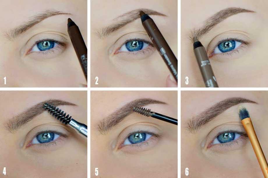 Как правильно красить брови карандашом для начинающих: пошагово с фото и видеоуроками