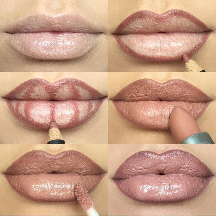 Как правильно и красиво накрасить губы и наносить помаду