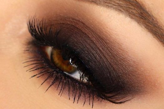 Макияж с коричневыми тенями: пошагово с фото
