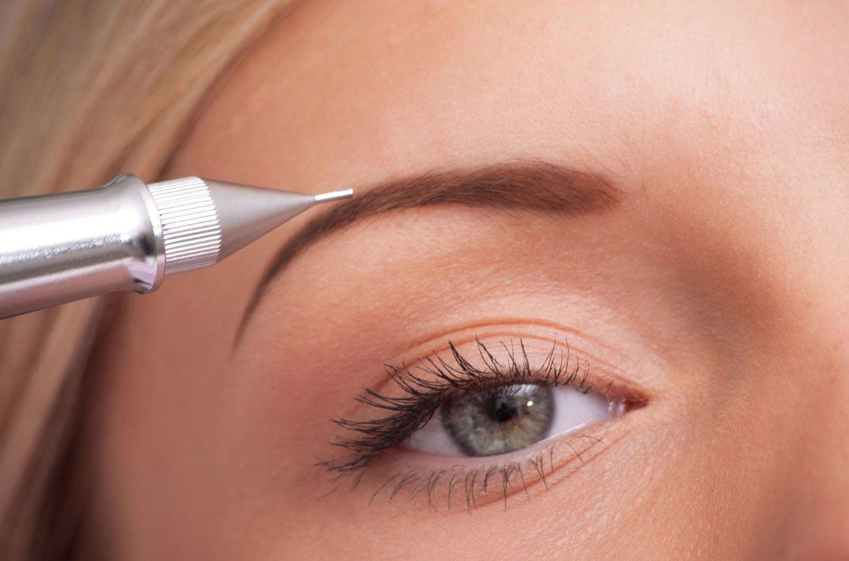 Перманентный макияж бровей: сколько держится по времени, как делается, техника пудровое напыление, уход и заживление